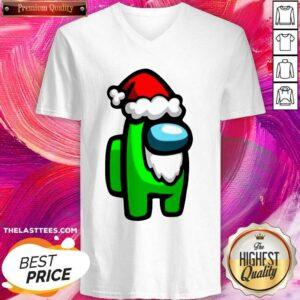 Awesome Among Us Christmas V-neck- Design By Potatotees.com
