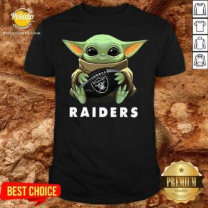 Baby Yoda Hug Oakland Raiders Shirt - Design By Potatotees.com