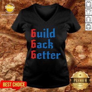 Build Back Better 666 Anti Globalist V-neck - Design by Potatotees.com