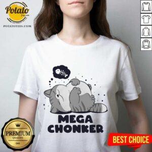 Cat Mega Chonker V-neck