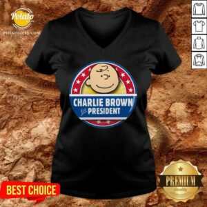 Charlie Brown For President V-neck
