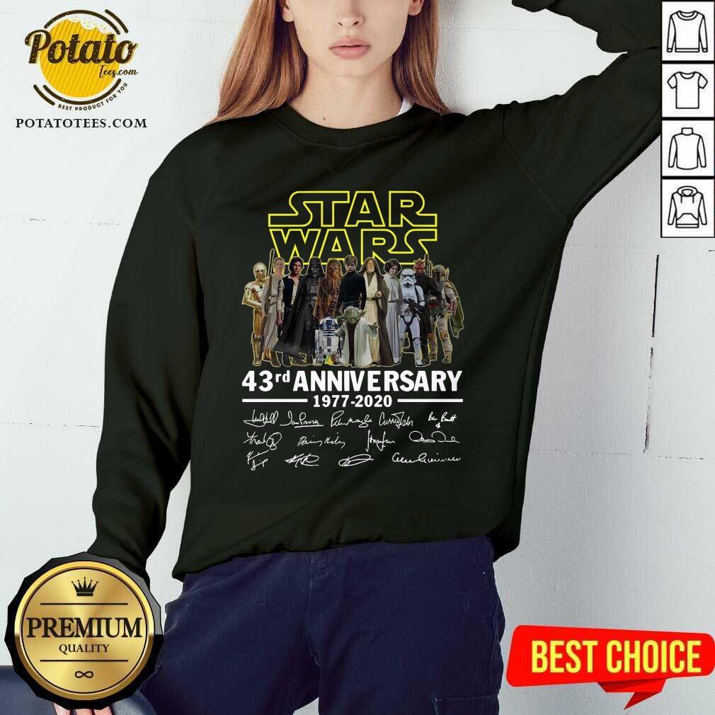 Star Wars 43rd Anniversary 1977 2020 Signatures Sweatshirt