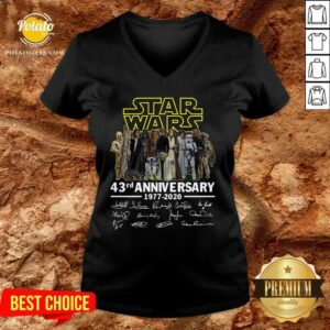 Star Wars 43rd Anniversary 1977 2020 Signatures V-neck