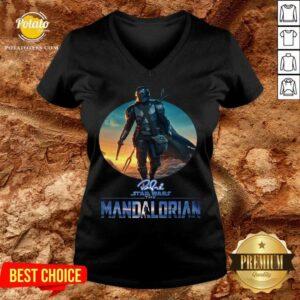 The Mandalorian Star Wars Signature Sunset V-neck