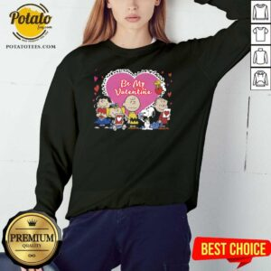 The Peanuts Be My Valentine Sweatshirt - Design By Potatotees.com
