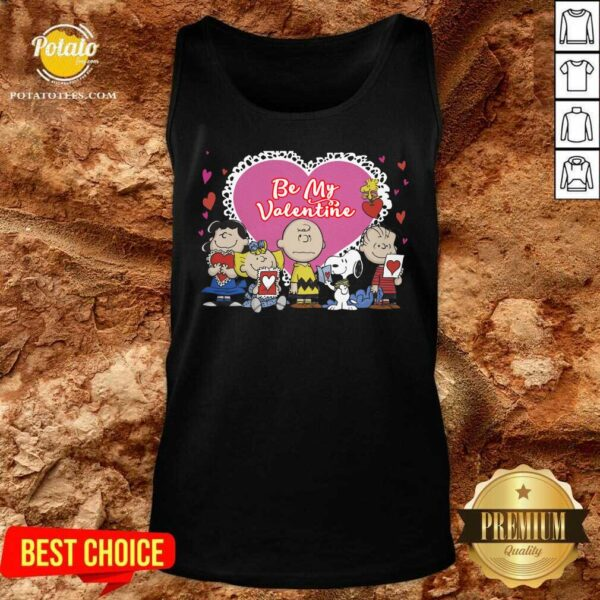 The Peanuts Be My Valentine Tank-Top - Design By Potatotees.com
