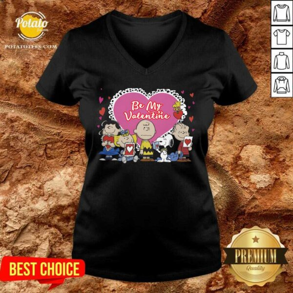 The Peanuts Be My Valentine V-neck - Design By Potatotees.com
