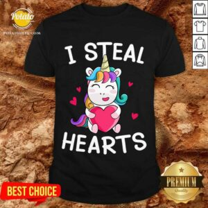 Valentine's Day Unicorn Lovers I Steal Hearts Shirt