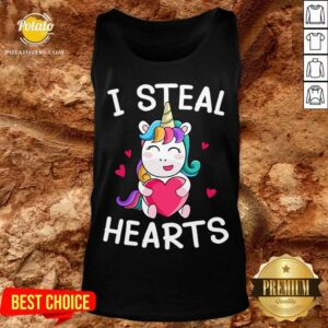 Valentine's Day Unicorn Lovers I Steal Hearts Tank-Top