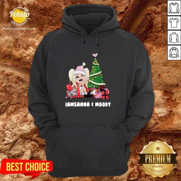 Beautiful I Am Sanna And Moody Christmas Hoodie - Design By Earstees.com