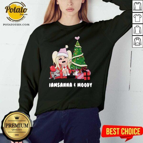 Beautiful I Am Sanna And Moody Christmas Sweatshirt - Design By Earstees.com
