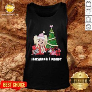 Beautiful I Am Sanna And Moody Christmas Tank-Top - Design By Earstees.com