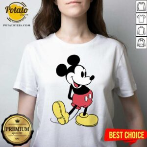 Beautiful Mickey Mouse Vintage V-neck - Design By Potatotees