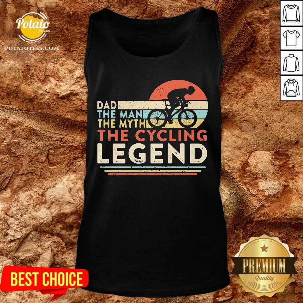 Dad The Man The Myth The Cycling Legend Vintage Tank-Top - Design By Potatotees.com