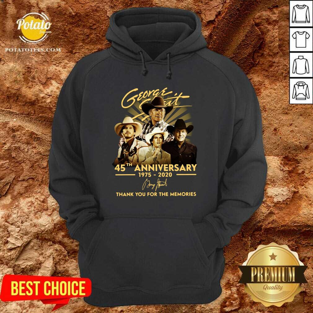 George Strait 45th Anniversary 1975 2020 Thank You For The Memories Signature Hoodie - Design By Potatotees.com