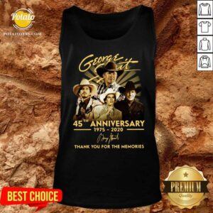 George Strait 45th Anniversary 1975 2020 Thank You For The Memories Signature Tank-Top- Design By Potatotees.com