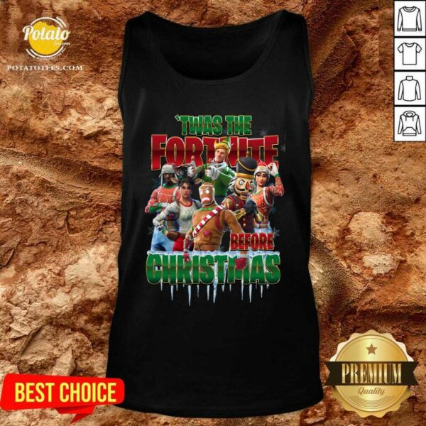 Funny Twas The Fortnite Before Christmas Tank-Top - Design By Earstees.com