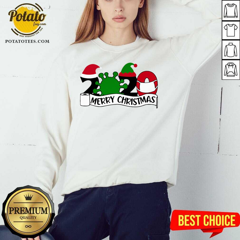 Good 2020 Mask Quarantine Toilet Paper Merry Christmas Sweatshirt- Design By Potatotees.com