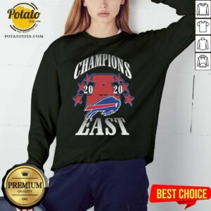 Champions 2020 Buffalo Bills East Sweatshirt - Design By Potatotees.com