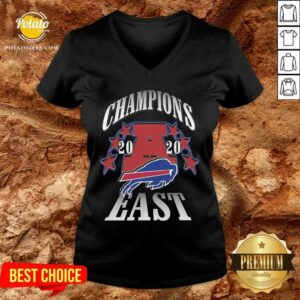 Champions 2020 Buffalo Bills East V-neck - Design By Potatotees.com