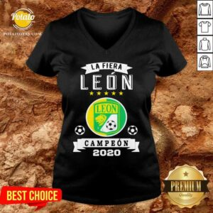 Club Leon Campeon 2020 Futbol Mexicano La Fiera V-neck