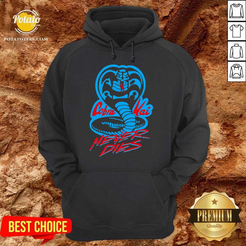 Cobra Kai Never Dies Hoodie - Design By Potatotees.com