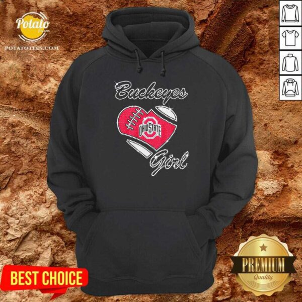 Diamond Heart Ohio State Buckeyes Girl Hoodie - Design By Potatotees.com