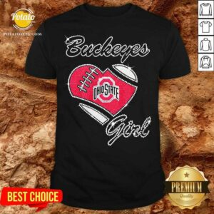 Diamond Heart Ohio State Buckeyes Girl Shirt - Design By Potatotees.com