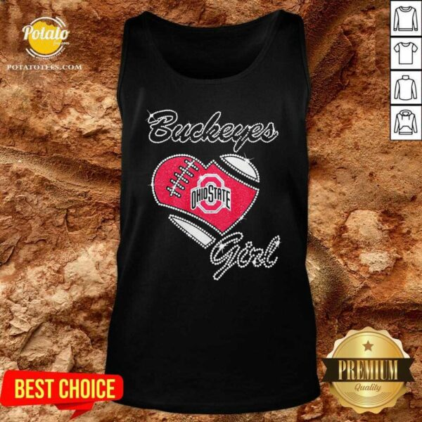 Diamond Heart Ohio State Buckeyes Girl Tank-Top - Design By Potatotees.com