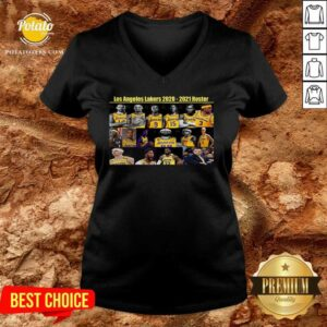 Los Angeles Lakers 2020 2021 Roster V-neck