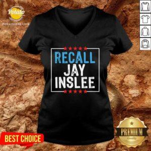 Recall Jay Inslee Stars Election Good Recall Jay Inslee Stars Election V-neck - Design by Potatotees.com