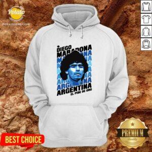 Great Diego Maradona Argentina El Pibe De Oro Hoodie - Design By Potatotees