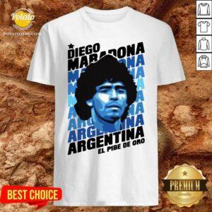Great Diego Maradona Argentina El Pibe De Oro Shirt - Design By Potatotees