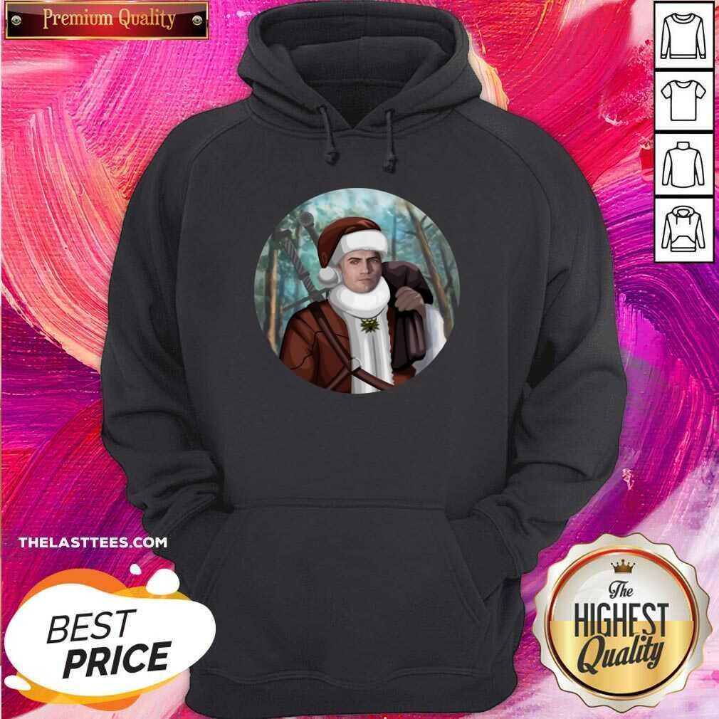 Happy The Witcher Santa Crewneck Hoodie- Design By Potatotees.com