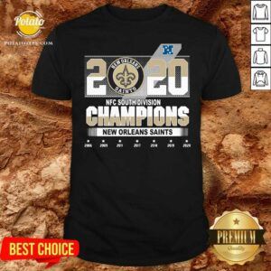 2020 Afc North Division Champions New Orleans Saints 2008 2009 2011 2017 Shirt - Design By Potatotees.com