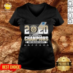 2020 Afc North Division Champions New Orleans Saints 2008 2009 2011 2017 V-neck - Design By Potatotees.com