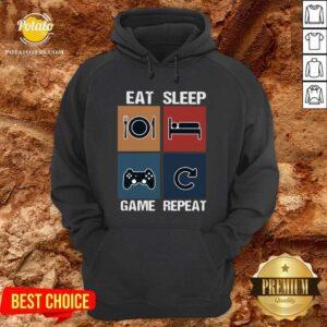 Eat Sleep Game Repeat Vintage Hoodie - Design by Potatotees.com