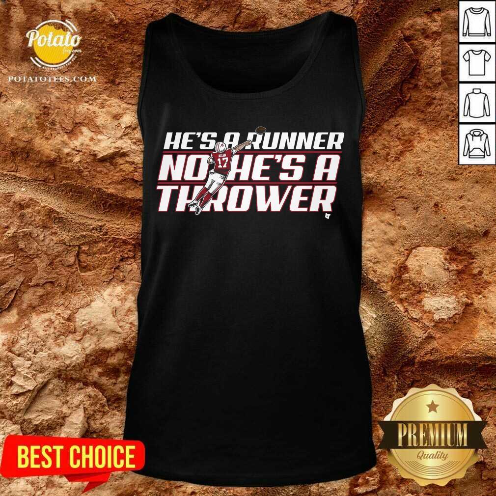 He's A Runner No He's A Thrower Tank-Top