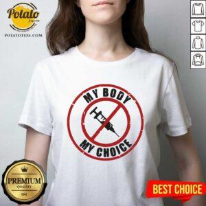 My Body My Choice No Face Mask V-neck - Design By Potatotees.com