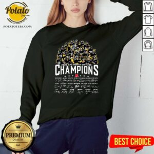 Pittsburgh Steelers 2020 AFC North Division Champion Signatures Sweatshirt - Design by Potatotees.com