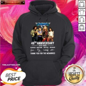 Nice Van Halen 48th Anniversary Thank You For The Memories Signatures Hoodie - Design By Potatotees