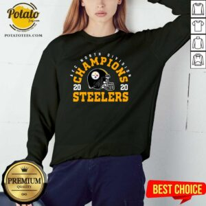 Afc North Division Champions 2020 Pittsburgh Steelers Sweatshirt - Design By Potatotees.com