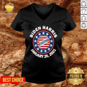 Biden Harris January Inauguration American Flag V-neck