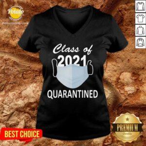 Class Of 2021 Quarantine V-neck - Design By Potatotees.com