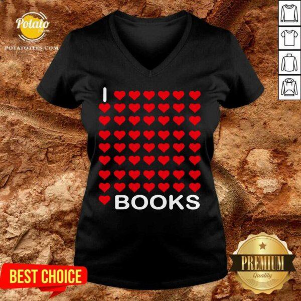 I Looooove Books V-neck