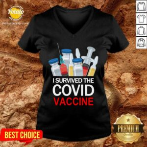 I Survived The Covid Vaccine V-neck