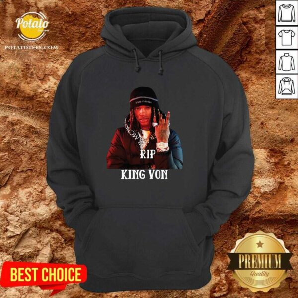 Official Rip King Von Hoodie- Design By Potatotees.com
