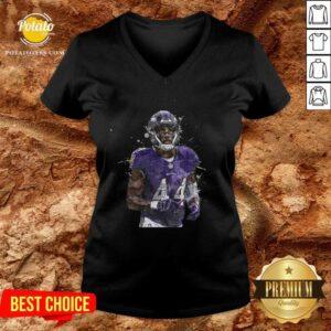 Baltimore Ravens Football Players 44 NFL Playoffs V-neck - Design By Potatotees.com