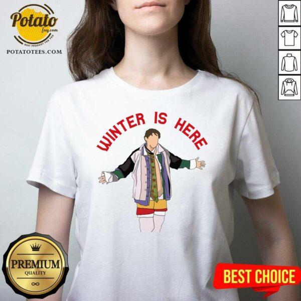 Original Joey Winter Is Here V-neck- Design By Potatotees.com