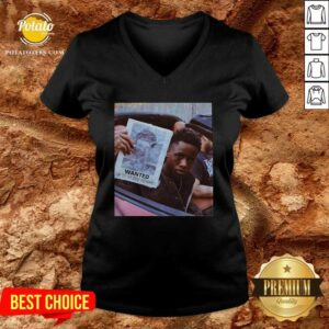 Tay K Wanted 2021 V-neck - Design By Potatotees.com